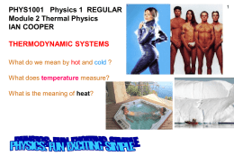 Thermodynamic Systems