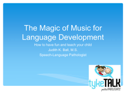 Language and Music powerpoint