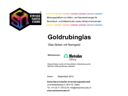 Goldrubinglas PowerPoint-Präsentation