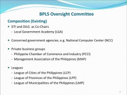 Proposed composition of BPLS Oversight Committee