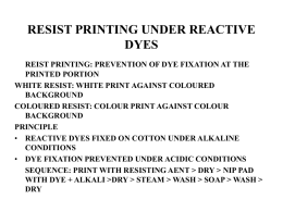 RESIST PRINTING UNDER REACTIVE DYES