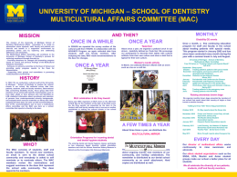 MAC Poster (pdf) - University of Michigan School of Dentistry