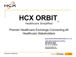 HCX- Presentation to Star - Insurance Institute of India
