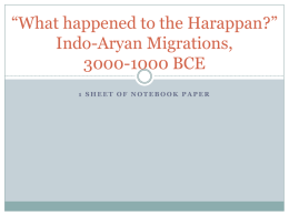 Indo-Aryan Migrations Unit 1 Lesson 5