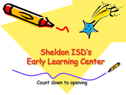 Sheldon`s Early Learning Center