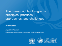 The human rights of migrants