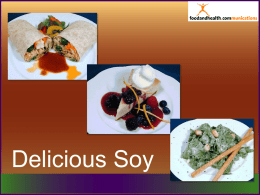 Delicious Soy - Communicating Food for Health