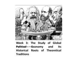 The Study of Global Political Economy