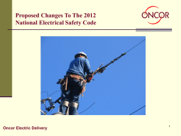Report on Proposals for the 2012 NESC