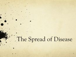 Spatial Diffusion of Disease