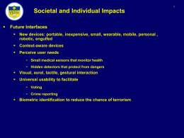 Societal and Individual Impacts