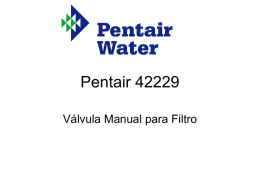 Valvulas Manuales PENTAIR