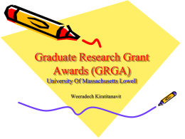 GRGA Information - University of Massachusetts Lowell