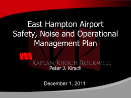 Safety and Noise Program - East Hampton Proposed Airport Le