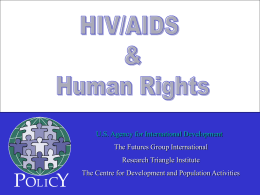 HIV/AIDS and Human Rights The Top 5 Issues
