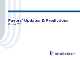 Payors Updates Predictions