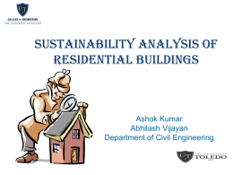 analysis of sustainability of a residential building in ohio