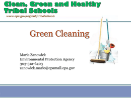Cleaning for Healthy Schools
