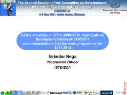 Report on ICT activities