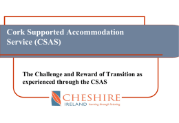 Supported Accomodation Project Cork