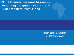 Governing Capital Flight and Illicit Transfers from Africa by Brian