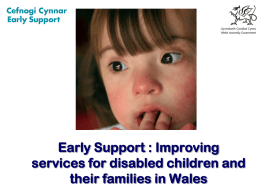 Early support - english - AWARES, the All Wales Autism Resource
