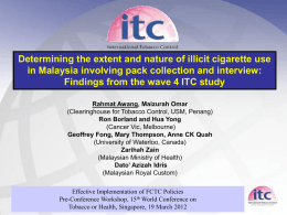 Presentation - International Tobacco Control Project