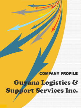 Diapositiva 1 - Guyana Logistic & Support Services Inc