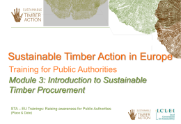 Introduction to sustainable timber procurement