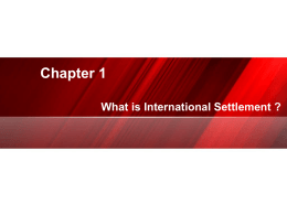 What is International Settlement