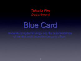 Blue Card - tukwilafiretraining.org