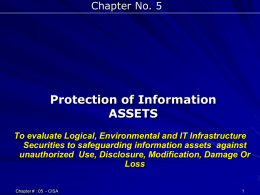 5th Chapter - information systems and it audit