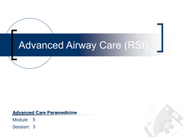 Advanced Airway Control