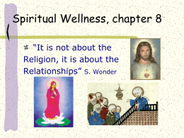 Spiritual Wellness, chapter 8