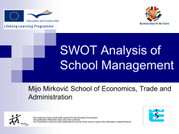 SWOT analysis of school`s management