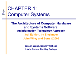 CHAPTER 1: Computer Systems