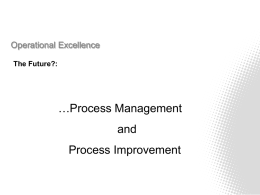 Process Management and Improvement