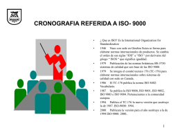 CRONOGRAFIA REFERIDA A ISO