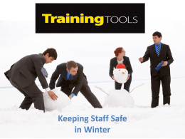 Keeping Staff Safe in Winter (Training Tool)