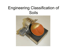 Engineering Classification of Soils