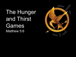 Hunger and Thirst Games Message 2