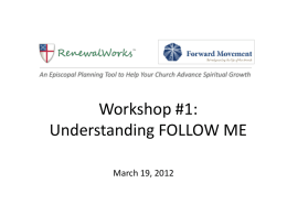 Webinar Overview: Episcopal Spiritual Life Survey & RenewalWorks