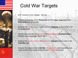 The Cold War - Williamstown Independent Schools