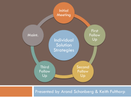 Individual Solutions Strategies