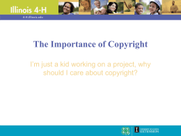 The Importance of Copyright - University of Illinois Extension