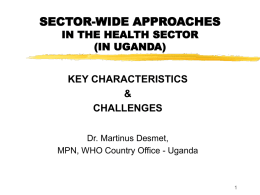 SECTOR-WIDE APPROACHES IN THE HEALTH SECTOR (IN