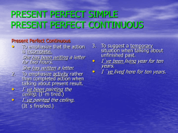 present perfect simple present perfect continuous