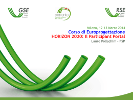 Workshop Europrogettazione - Pollachini - HORIZON 2020