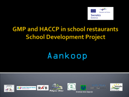 PowerPoint Inkoop - GMP and HACCP in school