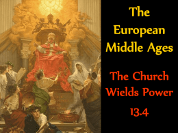 The European Middle Ages 13.4 pp